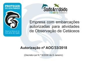 1bc5e91ce Observação de Golfinhos. Cetacean Observation Activity License –  Authorization no. AOC 33 2018 (Sado Estuary Natural Reserve)